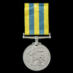 Korea Medal awarded to Trooper J. Mayhew, Royal Tank Regiment, who saw service in Korea during th...
