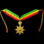 Ethiopia, Imperial Order of the Star of Ethiopia, Grand Officers neck badge and breast star set i...