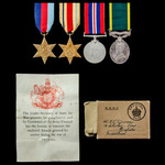 Second World War Fall of France Dunkirk casualty and North Africa Territorial long service group ...