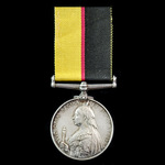 Queen's Sudan Medal 1896-1898, an unnamed example.