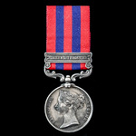 India General Service Medal 1854-1895, 1 Clasp: Northwest Frontier, awarded to Sepoy Kamdyal Miss...