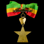 Ethiopia, Imperial Order of the Star of Ethiopia, Officers Grade breast badge with Rosette and mo...
