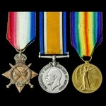A Great War Defence of Vimy Ridge May 1916 Military Medal winner's 1914-1915 trio awarded to Priv...