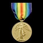 Victory Medal awarded to Private P. Spiers, Dorset Regiment, who was serving with the 2nd Battali...