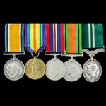 Great War Western Front and Second World War Home Service and Air Efficiency Award group awarded ...