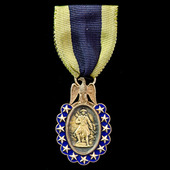 United States of America: Sons of the American Revolution 1889 Original Founder Member's Gold Med...