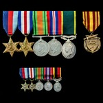 Second World War North West Europe operations Territorial long service group awarded to Lieutenan...