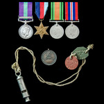 Palestine Arab Rebellion and Second World War France 1940 group awarded to Private T.W. Ward, Eas...