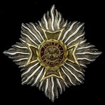 The Most Honourable Order of the Bath, Mantle Star of the Knight's Grand Cross, G.C.B., Military ...