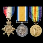 Great War Trio awarded to Lance Corporal J.J. Beaumont, Royal Sussex Regiment, who saw service on...
