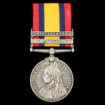 Defence of Helpmakaar Farmhouse August 1900 Casualty Queen's South Africa Medal 1899-1902, 2 Clas...
