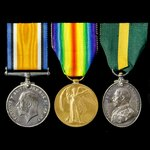 A Great War and Territorial Force Efficiency Medal group awarded to Private T. Edwards, 4th Batta...