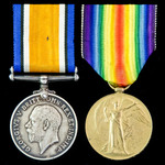 Great War Gallipoli casualty pair awarded to Private H. Pledger, 1st Battalion, King's Own Scotti...