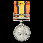 A Queen's South Africa Medal 1899-1902, 2 Clasps: Cape Colony, South Africa 1902, awarded to Priv...