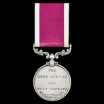 Army Long Service and Good Conduct Medal, GVR Fm. bust, awarded to Battery Quarter Master Sergean...