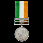 King's South Africa Medal 1901-1902, 2 Clasps: South Africa 1901, South Africa 1902, awarded to P...