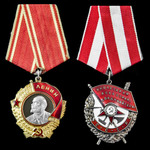 Russia – Soviet: A fascinating Order of Lenin and Order of the Red Banner pair to Senior Lieutena...