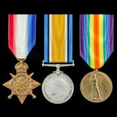 A Great War Casualty 1914 Star Trio awarded to Private W.T. Hoare, 1st Battalion, Northamptonshir...