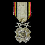 Belgium: Civil Decoration 1914-1918, 2nd Class Silver Medal, with '1914 - 1918' bar.
