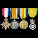 Great War 'War Services' January 1918 French Medaille Militaire of a Commissioned Warrant Officer...