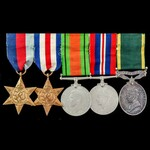 Second World War North West Europe and Territorial long service group awarded to Lieutenant and H...