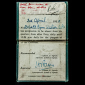 Box of issue for the General Service Medal with clasp for Palestine and a British Army School of ...