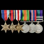 Second World War Burma and North West Europe, post-war Malayan Emergency and Cyprus group awarded...
