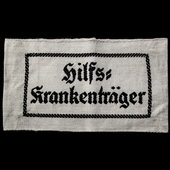 Germany - Third Reich: Hilfs Krankentrager Armband, as worn by Medic Stretcher Bearers. Complete,...