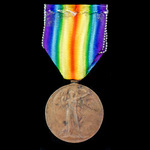 Victory Medal, 1st type in bronze, awarded to Sergeant A. Checkley, Royal Field Artillery, who sa...