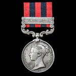 An India General Service Medal 1854-1895, 1 Clasp: Jowaki 1877-8, awarded to Private John Frankli...