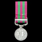 An India General Service Medal 1895-1902, 1 Clasp: Punjab Frontier 1897-98, awarded to Rifleman J...