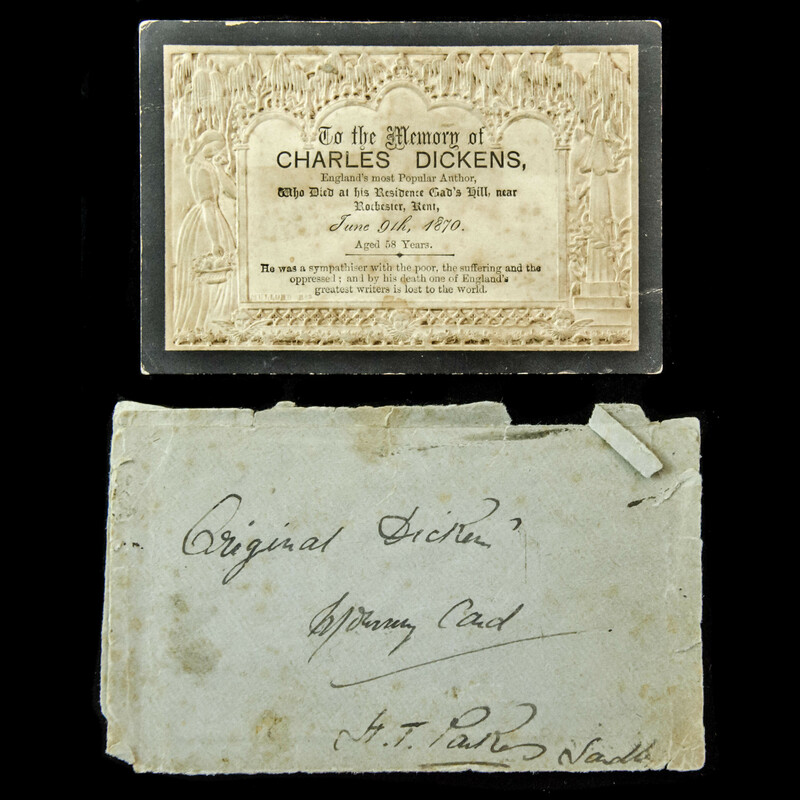 Charles Dickens Funeral Card,. | London Medal Company