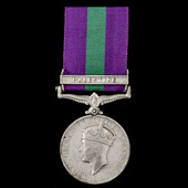 General Service Medal 1918-1962, GVI, 1 Clasp: Palestine awarded to Fusilier S. Black 2nd Battali...