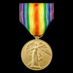 Victory Medal awarded to Private A.E. Neads, 4th Battalion, Bedfordshire Regiment, Territorial Fo...