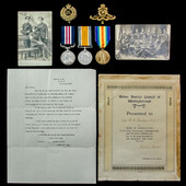 The very fine Great War Somme Operations 15th August 1917 Linesman's Military Medal group awarded...