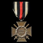 Germany - Imperial: Honour Cross 1914-1918 with Swords for Combatants, reverse maker marked '1 R....