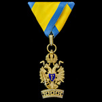 Austria - Imperial: Order of the Iron Crown, Knight 3rd Class breast badge, bronze-gilt and ename...
