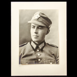 Germany – Third Reich: A head and shoulders studio Portrait Photograph of a German Mountain Troop...