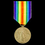 Palestine casualty Victory Medal awarded to Private G.H. Fairburn, 23rd County of London Battalio...