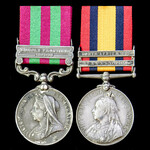 India Punjab Frontier 1898 and South Africa Boer War 1902 operations pair awarded to Private F. P...