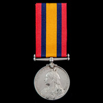 A Queen's South Africa Medal 1899-1902, no clasp, awarded to Corporal W.A. Nellist, Rand Rifles, ...