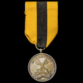 Securicor Long Service Medal in Silver for 7 Years Service, marked 'silver' on reverse, mounted o...