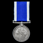 The extremely rare and interesting Royal Navy Long Service and Good Conduct Medal, Victoria narro...