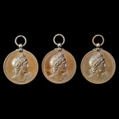   Great Britain: Three Prize Medals of the Royal Academy of Music in Bronze, all awarded to John...