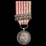Italy: Medal for the Independence and Unification of Italy 1865 with two clasps for 1859 and 1866...