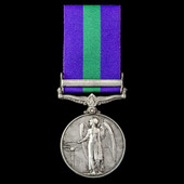 General Service Medal 1918-1962, GVI, 1 Clasp: Palestine 1945-48 awarded to Driver R.F. Gillings,...