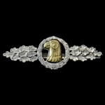 Germany, Third Reich: Luftwaffe Reconnaissance Clasp in Silver, no maker mark. Of mid-late war ma...
