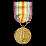 Victory Medal awarded to Private F.F. Corps, 1st Battalion, Royal Irish Fusiliers, who was presen...