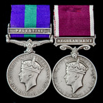 Palestine Arab Rebellion and Regular Army long service pair awarded to Colour Sergeant E.G. Galpi...