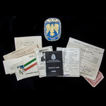 ​  Rare Italy - Fascist / Republic: documents carried by Renato Boldrini of Savona, sometime a me...